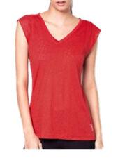 Lorna Jane Womens Jesamine T-Shirt V-Neck Loose Fit Tops Tee Paprika Size XS-L