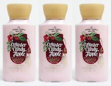 3 Bath & Body Works WINTER CANDY APPLE Travel Size Mini Body Lotion Cream HTF