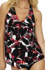 Magicsuit Miraclesuit Size 12 Black Brush Off Taylor Underwire Tankini TOP NWT
