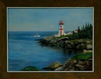"M.JANE DOYLE SIGNED ORIG. ART OIL/CANVAS PAINTING ""CAMPOBELLO ISLAND"" (SEASCAPE)"