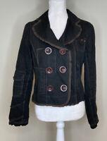 Ett Taia Anthropologie Women's Button Up Jacket Size 6 Brown i4