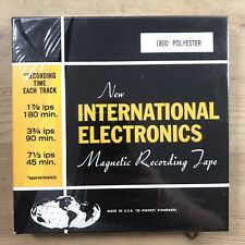More details for magnetic recording tape *new international electronic* 1800' polyester (sealed)