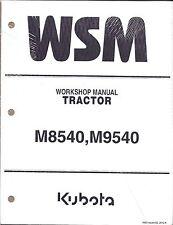 Heavy equipment manuals books for kubota ebay kubota m8540 m9540 tractor workshop service repair manual fandeluxe Images