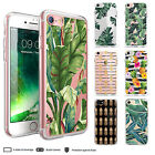 iPhone X 8 7 6 Plus 5 Case Tropical II Leaves Pineapple Clear Bumper Print Cover