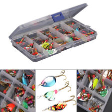 30 Pcs Trout Spoon Metal Fishing Lures Bait Spinner Baits Bass Tackle Fish Box