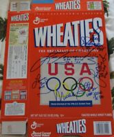 USA Softball stars signed auto 1996 US Olympic Team Wheaties box Lisa Fernandez