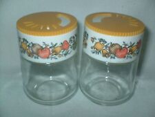 Corning Ware Glass GEMCO SPICE OF LIFE Jar Spice Shakers w/ Yellow Dial Lid