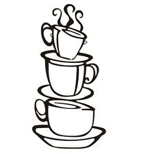 New DIY Removable Home Kitchen Decor Coffee House Cup Decals Vinyl Wall Sticker