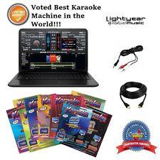 Laptop Karaoke Machine w Chartbusters 10 Pack Karaoke DJ Software