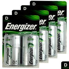 8 x Energizer Rechargeable D Size batteries Recharge Power NiMH 2500mAh LR20