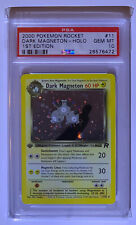 Pokemon Dark Magneton Team Rocket 1st Edition PSA 10 Holo Extremely Rare Low POP
