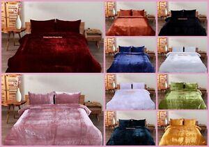 Bedspread Crushed Bedding Solid Doona Velvet Ultra Luxe Comforter Duvet Cover