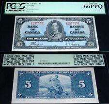 1937  Bank Of Canada $5 Coyne/Towers PCGS GEM UNC 66PPQ