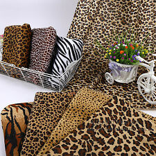Velvet Fabric Animal Leopard Print for Cloth Tablecloth Material Sewing Craft