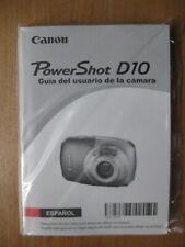 Canon PowerShot D10 12.1 MP Waterproof Digital Camera Instruction Manuals