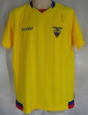 ECUADOR NATIONAL TEAM SOCCER JERSEY GOLD SIZE LARGE EXCELLENT CONDITION   C15