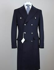 New $4795 Brunello Cucinelli Wool Cashmere Navy Blue Coat Size 40 (50 EU) NWT