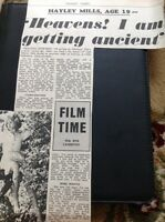 66-1 Ephemera 1965 Article Hayley Mills At 19 Film Star