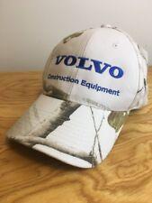 RARE REALTREE VOLVO CONSTRUCTION EQUIPMENT ADJ HAT CAP WHITE and CAMO