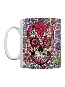 Sugar Skull Carnival White Tea or Coffee Mug