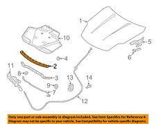 Infiniti NISSAN OEM 03-07 G35 Hood-Weatherstrip Seal 65820AM800