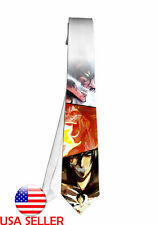 Attack on TITAN Eren Fan Art Necktie Neck Tie Anime Unique Gift Cosplay #3