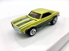 1982 Hot Wheels '67 Chevrolet Camaro Green Flat Matte with Stripe Error, RARE