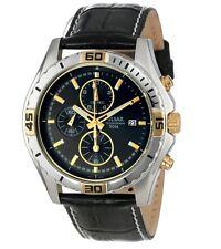 PULSAR PF8384X1 Chronograph Black Leather Strap Gent's Watch, 2Yr Guar RRP £120