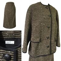ATELIER GADOS Swiss Couture Skirt Suit Scandi Career Work Business Boxy Style 14