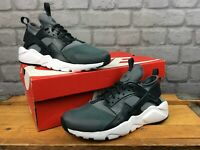 NIKE UK 5 EU 38 HUARACHE RUN ULTRA GREY BLACK TRAINERS CHILDRENS LADIES EP