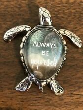 "Sea Turtle Message Figurine ""Always Be Yourself"" Ganz"
