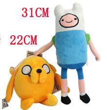 HOT 2PCS/Set Adventure Time With Finn & Jake Soft Stuffed Animal Plush Toy