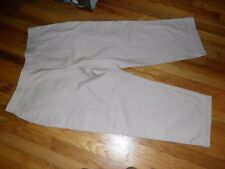 Women's Basic Editions Tan Cargo Loose Through Thighs Pants Size 44X29 NWT