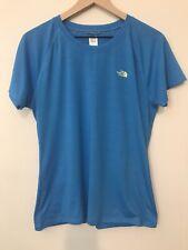 The North Face L Women's Short Sleeve T Shirt Blue Vapor Wick Technology