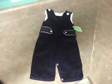 Baby Boys Lolly Wolly Doodle Navy & White Corduroy Jumper Size 12 Months (Con30)