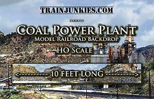 "TrainJunkies HO Scale ""Coal Power Plant"" Model Railroad Backdrop 120""X18"""