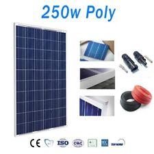 Placa Solar 250W Policristalino 12v/24v/48v con 10 metros de cables y MC4