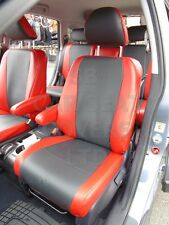 TO FIT A HONDA CRV 2006, CAR SEAT COVERS, BLACK AND BRIGHT RED PVC LEATHER