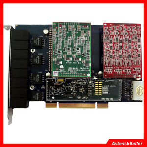 4 FXS 4 FXO Card,Echo Cancellation,Asterisk FreePBX VoIP PBX Telephone System
