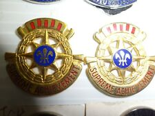 MILITARY INSIGNIA CREST DUI SET OF 2 UNSURE SUPREME ACHIVEMENT