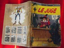 "LUCKY LUKE N°13 Le Juge 1969 avec page explicative le saloon tribunal "" Total """