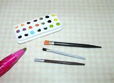 "Miniature 1/6 Barbie Scale Paint or Watercolors (1 3/8"" x 5/8"") Set: DOLLHOUSE"