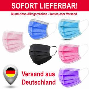 50 Stk Medizinische Einweg  Schutzmaske Mundschutz OP-Maske 3-lagig Atemschutz
