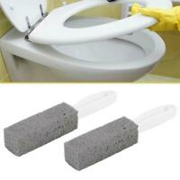 2Pcs Pumice Stone Toilet Bowl Cleaner Cleaning Brush Wand Water Natural Remover