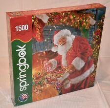 Mint Factory Sealed Springbok 1500 pc. Jigsaw Puzzle Santa's Return, Christmas