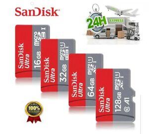 SANDISK MICRO SD 16, 32, 64 , CLASSE 10 MICROSD ULTRA 100/98 mb/s SCHEDA MEMORIA