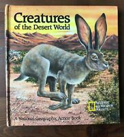 National Geographic Society Action book CREATURES OF THE WORLD Pop-up