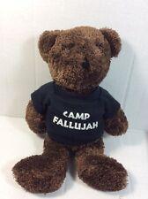 """Camp Fallujah Iraq Military Brown Teddy Bear Plush Bean Bag Soft Toy 9"""""""