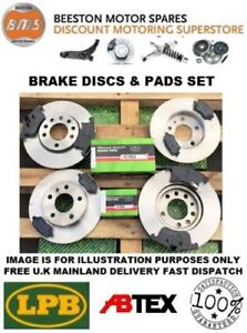 SAAB 9-3 TiD 1.9 Sport DISCS AND ABTEX PRO PADS FRONT REAR
