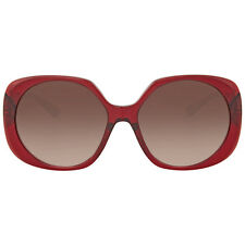 Versace Transparent Red Square Sunglasses